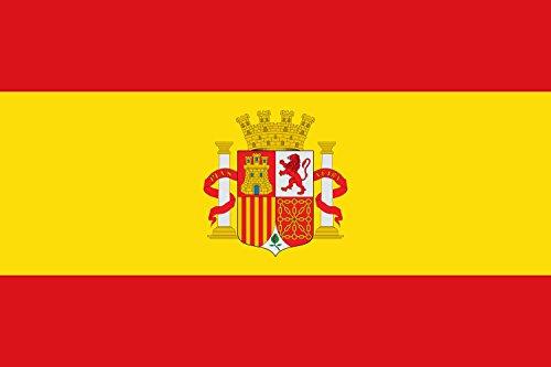 magFlags Bandera Large Española con el Escudo de España sin la Corona Real | Bandera Paisaje | 1.35m² | 90x150cm