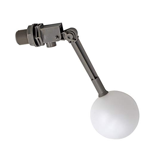 MACGOAL Water Float Valve with Adjustable Arm, Grey Float Ball Valve 3/4 Float Valve for Water Tank Livestock Waterer