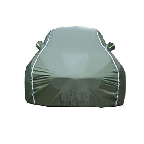 ZBM-ZBM Compatibel met Porsche Macan, volledig waterdichte autohoes, ademend, voering van katoen, zwaar, vier seizoenen, universele afdekking buitenshuis, accessoire voor kinderwagens Leger Groen