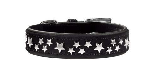 HUNTER Softie Stars Art-Nubuk - Collar de níquel (55 cm), Color Negro y Negro
