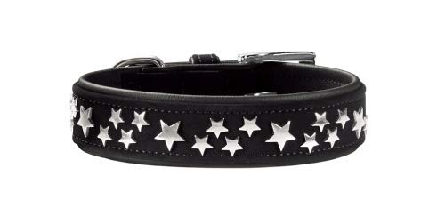 HUNTER Softie Stars Art-Nubuk - Collar de níquel (55 cm), Color Negro y Negro