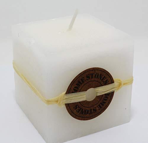 Candela Quadrata di Color Bianco e profumata a Vaniglia Weele