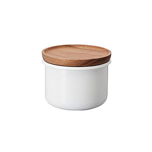 AAZZ barattoli Kitchen barattoli Vetro Ceramica immagazzinaggio Cibo contenitori con Coperchio in Legno for Tenuta ermetica for tè caffè Barattoli Ideale