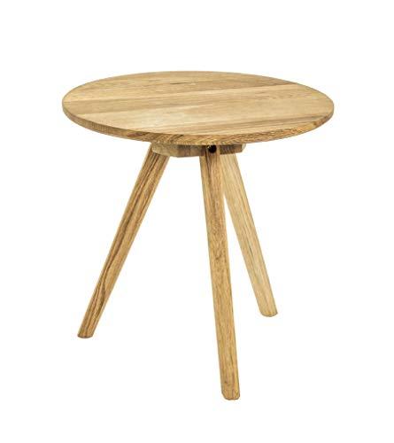 Haku-Möbel Beistelltisch, Eiche, Stahl, H x Ø 40 cm