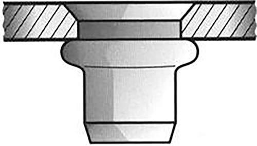 Gesipa tuerca remachable - Tuerca inoxidable a2 m4 cabeza cónica 6x13