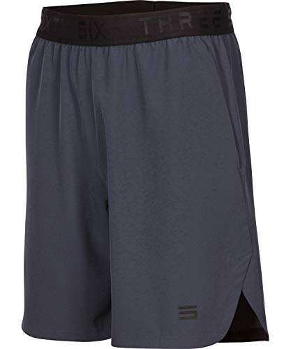 Dry FIT Gym Shorts for Men - Mens Workout Running Shorts - Moisture Wicking with Pockets and Side Hem Storm Grey