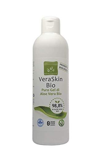Benessence - Gel d'Aloe Vera Biologique pur à 99,8% - Hydratant - Apaisant - Produit Italien issu de Nos Cultures Made In Italy -250 ml
