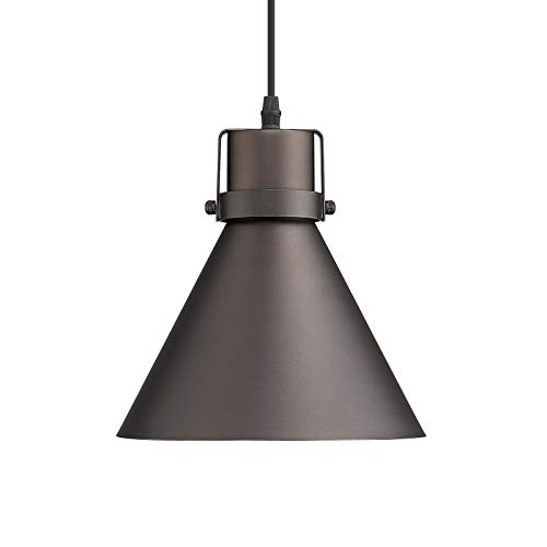 Zeyu Pendant Light Oil Rubbed Bronze, 1-Light Farmhouse...