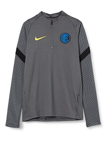 NIKE Inter YNK Dry Strke Dril Topcl Long Sleeved t-Shirt, Unisex niños, Dark Grey/Black/Tour Yellow No Sponsor-3Rd, S