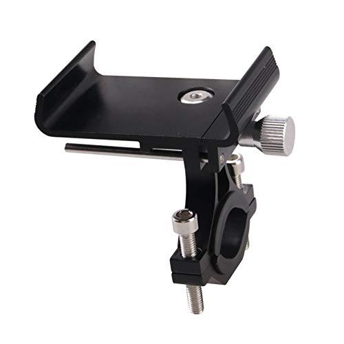 Soporte para teléfono de bicicleta, ajustable, desmontable, universal, de aleación de aluminio, soporte para manillar de bicicleta MTB, para iPhone 12/11 Pro Max/XS Max/XS/XR/8/8 Plus/7 (negro)