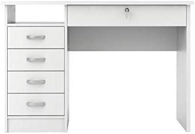 Amazon Com Tvilum Walden Desk With 5 Drawers White Furniture Decor