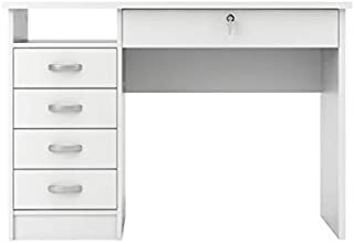 Tvilum Walden Desk with 5 Drawers, White