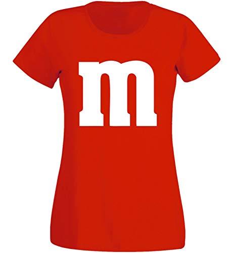 Nation JGA - Camiseta de Cuello Redondo para Mujer, para Carnaval, Disfraz de Grupo, diseño de M, MM Rojo M