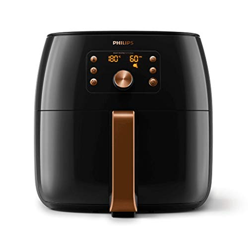 Philips Premium Collection Air Fryer XXL for Fry/Bake/Grill/Roast/Reheat with Smart Sensing, Fat Removal and Rapid Air Technology, 1.4kg Capacity, Copper/Black, HD9861/99
