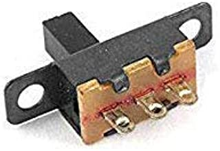 Yohii 200 Pcs x 3 Pin 2 Position 1P2T SPDT ON-OFF Miniature Panel Vertical Slide Switch Micro Slide Switch