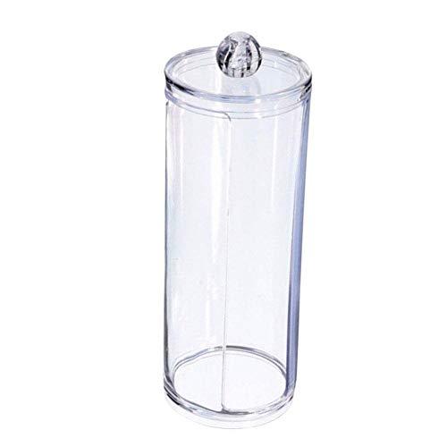 Renquen Aufbewahrungsbox für Wattestäbchen, Acryl, transparent, für Kosmetik, Make-up, Gesicht, Wattepads
