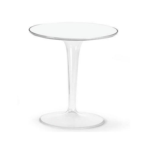 Kartell 8600E5 Tip Top - Mesa auxiliar, color blanco brillante, altura 50,54 cm, 3,8 kg
