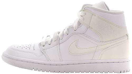 Nike Damen WMNS AIR Jordan 1 MID Basketballschuh, weiß, 38 EU