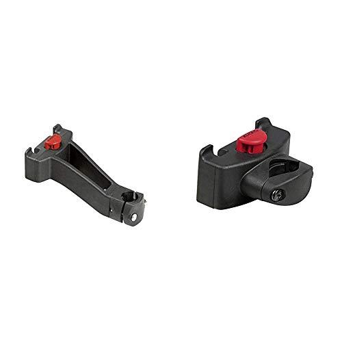 KLICKfix Zubehör Lenkeradapter für Vorbau Schwarz, One Size & Zubehör Caddy Adapter Lenkeradapter, Schwarz, One Size