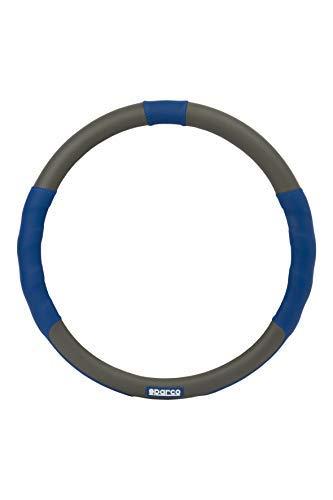 Sparco 16989 Funda de Volante Universal, Negro/Azul