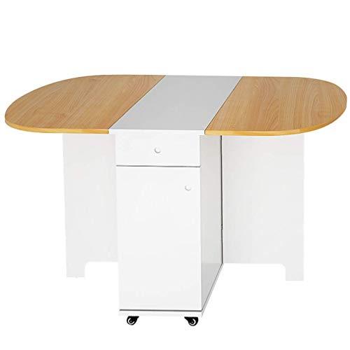 Klaptafel/stoel, intrekbare rechthoekige multifunctionele tafel met wieltjes 360 & deg; roterende desk keuken woonkamer eetkamer slaapkamer, B A