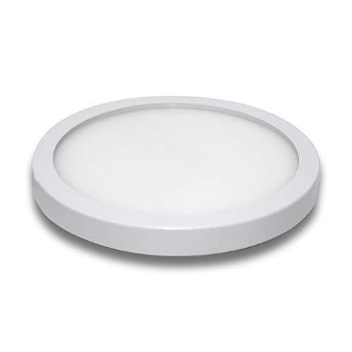 VIPMOON Lámpara de Techo 9W LED 3000K Blanco Cálido Ø13cm para Montaje Empotrado en Interiores, Luces de Techo Redondas para Dormitorio Baño Cocina Oficina Escalera Comedor