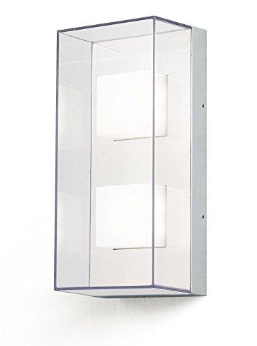 Gnosjö Konstsmide Außenleuchte, Sanremo, grau, 14 x 11 x 31 cm, 3 ml, 7936-310