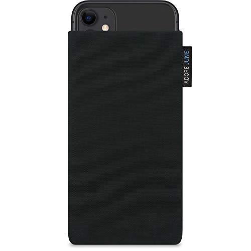 Adore June Classic Negro Funda Compatible con Apple iPhone 11, Material Resistente Efecto Limpiador de Pantalla
