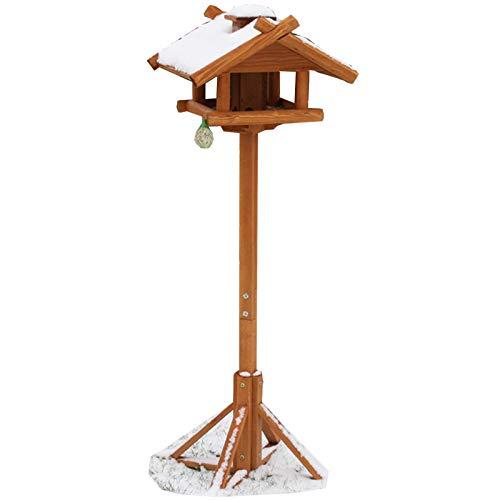 JEMIDI XXL Vogelhaus mit Ständer aus Holz 155cm mit Kupferdach | Vogelfutterhaus | Futterhaus Vogelhäuschen - Hochwertig verarbeitet
