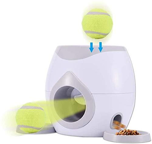 YFAZTS Intelligence Spielzeug Interaktives Spielzeug für Haustiere und Eigentümer Automatische Ball-Launcher-Snack-Maschine, Hund-Trainingsgerät mit Tennisball-Spielzeug