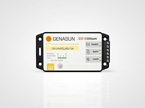 Genasun GV-5-Li-14.2V, 5 Amp 12 Volt MPPT Solar Charge Controller for Lithium Batteries