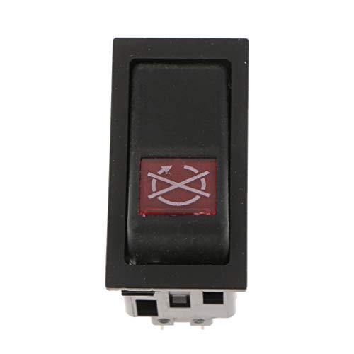 IPOTCH Interruptor de Botón de Arranque Y Parada de Motor de 2 Pines para Camiones de Automóvil Universal