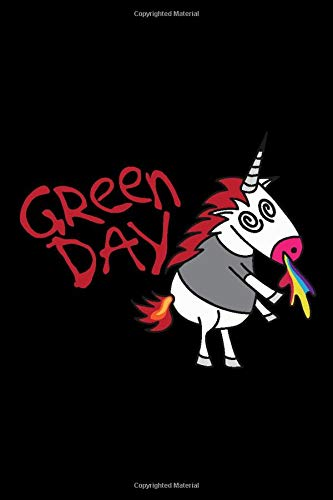 Green Day | Unicorn Notebook: 100 pages | 6