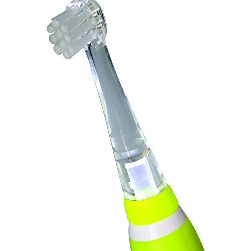 NUVITA NU-0077 |Zahnbürstenaufsatz für die Elektrische Zahnbürste 1150 mit Sonic® Schalltechnologie von Nuvita |Ersatz Zahnbürstenköpfe Aufsätze Aufsteckbürsten|Zahnpflege ab 3 Monate|EU Markenprodukt