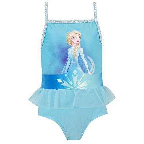 Disney Costume da Bagno per Ragazze Frozen Il Regno di Ghiaccio Blu 18-24 Mesi