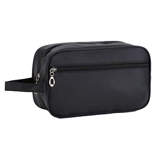 JunNeng Men Toiletry Bag Travel Shaving Bags Nylon Dopp Kit Overnight Wash Gym Bag, Black