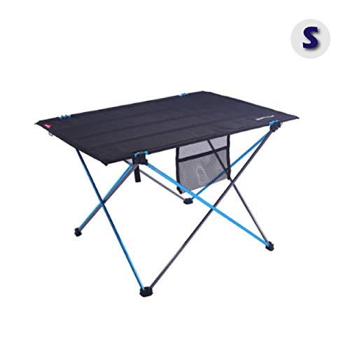 Azarxis Mesa de Acampada Plegable Mesa Portátil Ligera para Camping BBQ Excursión (Azul - S)