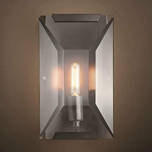 Beleuchtung Rechteckige Wandtreppenleuchten einladende Atmosphäre kreative Industriekammer Massivbau Glühlampe Kristall Licht im Innenhof (Size : H:26cm(10.24in)*w:16cm(6.3in))