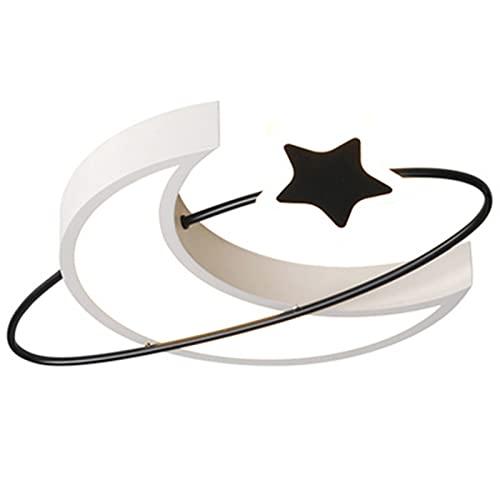 Wall Spotlights Plafoniera a LED da Incasso a Forma di Stella a Forma di Luna, Plafoniere Dimmerabili da 30 W, Acrilico Lampadario Moderno Piatto per Cucina, Soggiorno, Camera da Letto