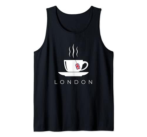 London Tea Cup England United Kingdom Great Britain Trip Tank Top