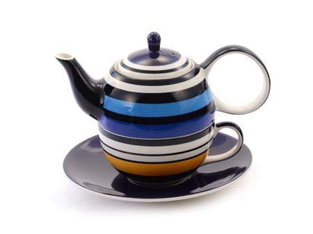 Cha Cult Tea for one Set Vincent Keramik, 4-teilig Kanne: 0,4 l, Tasse: 0,2 l