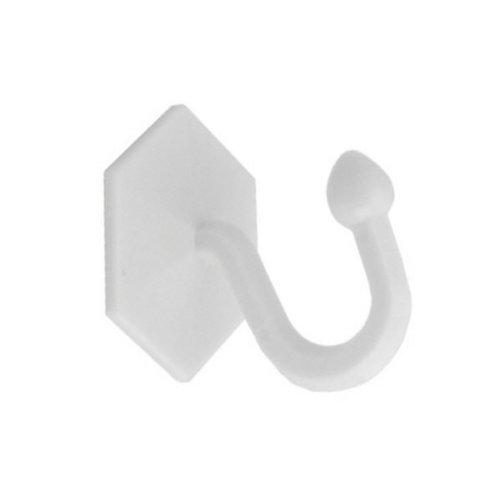 Bulk Hardware BH03774 Ganci Autoadesivi per Fissaggio Tendaggi, Bianco, 35 x 40 mm, Set di 2 Pezzi