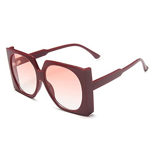 Gafas de Sol Sunglasses Gafas De Sol Cuadradas De Gran Tamaño Mujeres Steampunk Gafas De Sol Vintage Moda Gafas De Sol Retro Hombres Gafas Graduadas Punk Ladies C2Redgrad