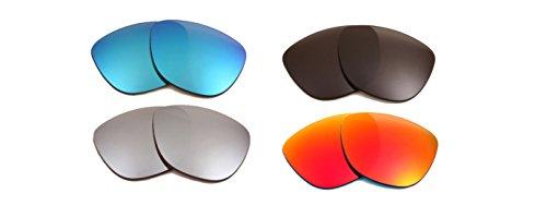 Lentes compatibles con OAKLEY FROGSKINS Polarizado Gris Azul Rojo & Plata