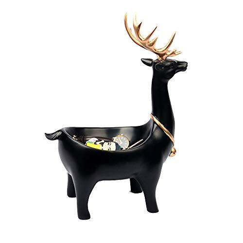 XHHWJJ Creative Auspicious Lucky Art Decoration - Moderne minimalistische Schuhveranda-Aufbewahrungsbox, nordische dekorative Ornamente Wohnaccessoires, Marmor (Color : Black)