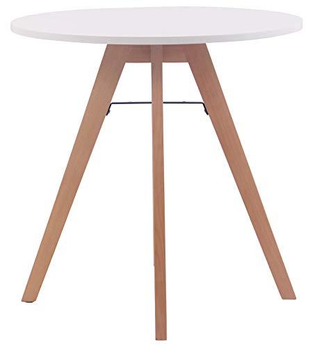CLP Küchentisch Viktor I Esstisch Mit MDF Tischplatte I Bistrotisch Mit Buchenholzgestell, Größe:75 cm