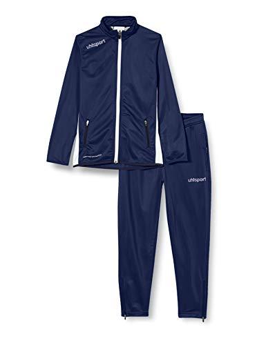 uhlsport Tuta Essential Classic da Uomo, Uomo, Essential Classic Anzug, Navy/Bianco, M