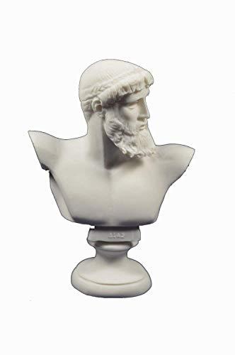 Estia Creations Zeus Escultura Busto Griego Antiguo