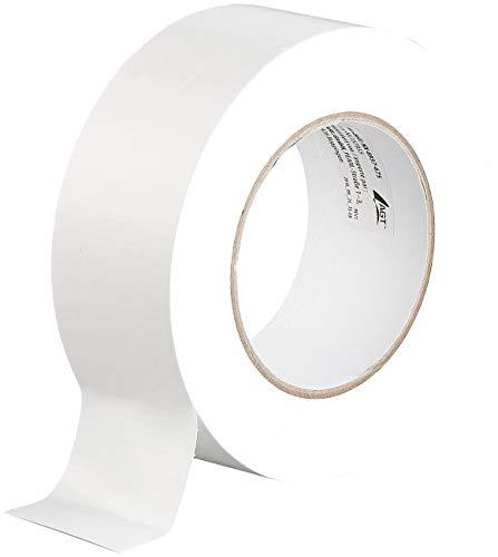 AGT Gewebeband: Reißfestes Gewebe-Klebeband, 4,8 cm breit, 0,17 mm dick, weiß, 50 m (Gewebeklebeband)