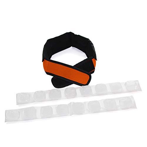 FlexiFreeze Cooling Collar - Neck Cooling Ice Wrap, Orange